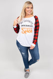Pumpkin Spice Season Top, White