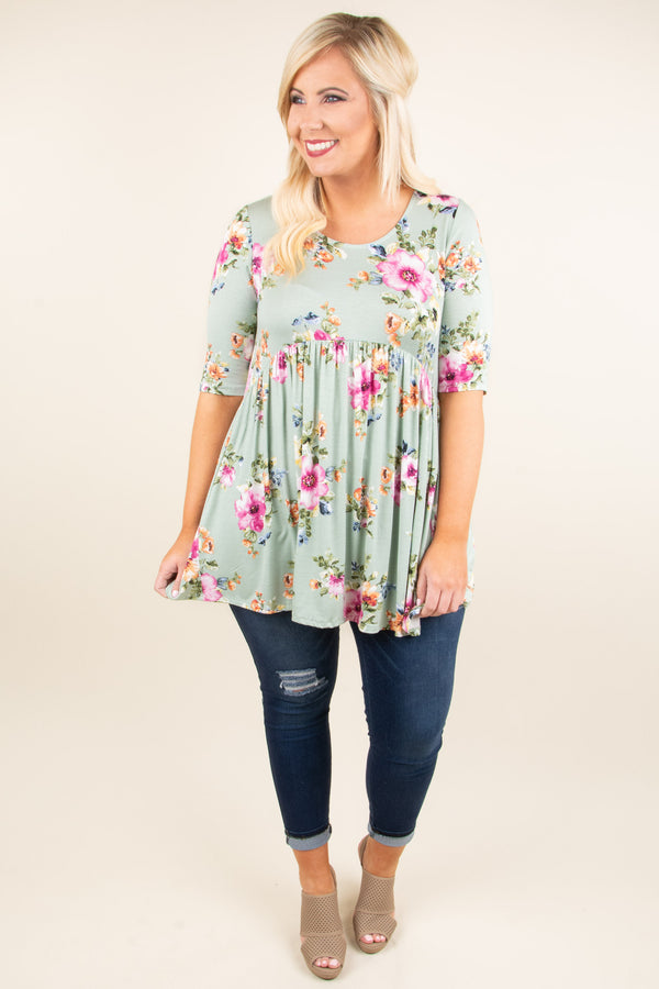 Cherished Moments Tunic, Sage
