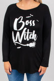 Boss Witch Top, Black