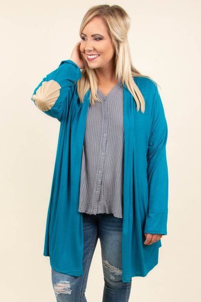 My Best Guess Cardigan, Teal