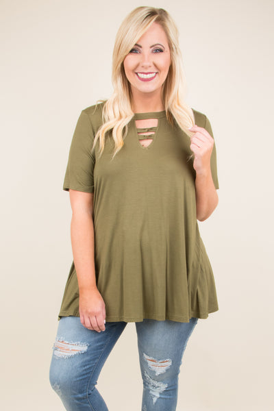 Sunup To Sundown Top, Olive