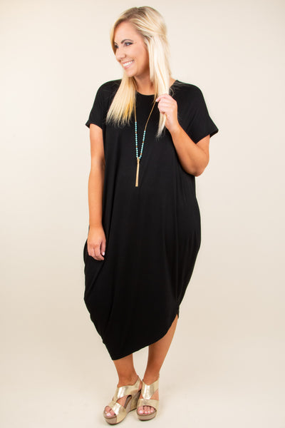 Scene Stealing Maxi Dress, Black