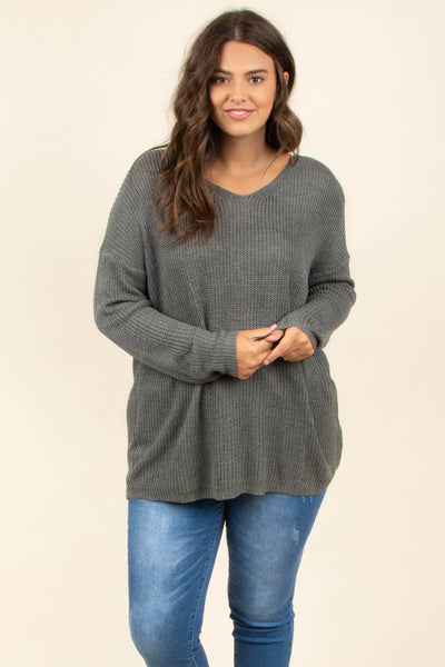 Let's Jet Set Sweater, Charcoal