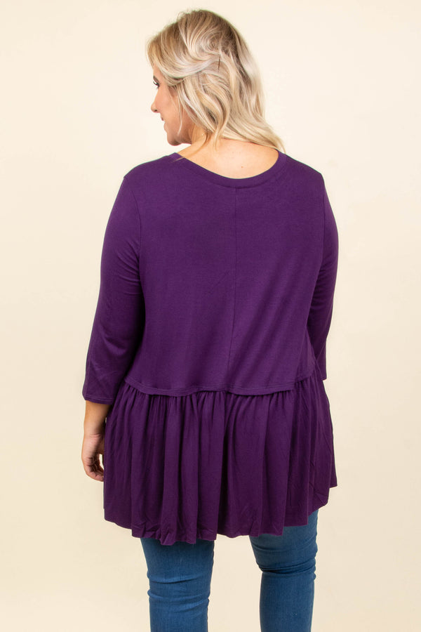 No More Drama Tunic, Dark Purple