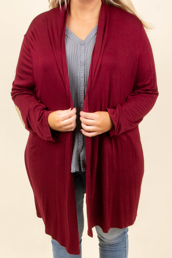 My Best Guess Cardigan, Burgundy