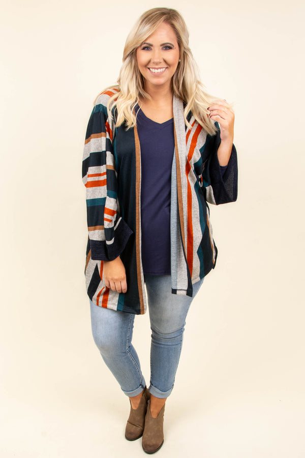 Change Your Mood Kimono, Navy