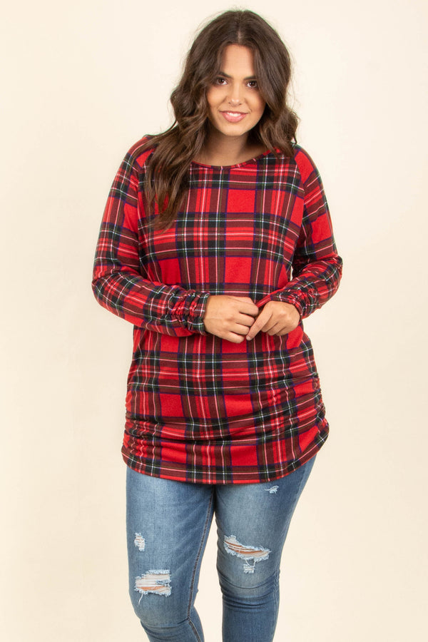 Chilly Forecast Tunic, Red