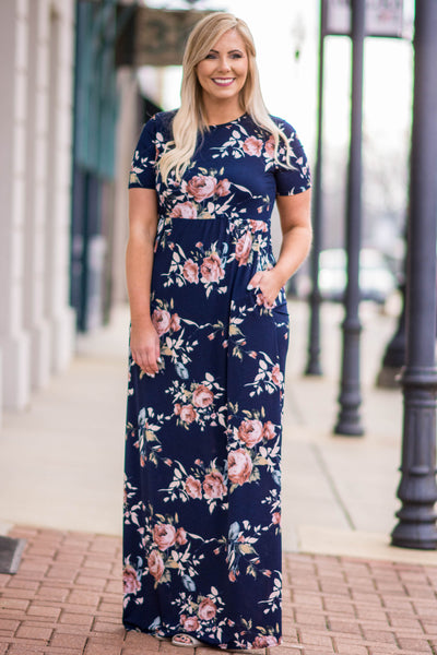 The Sunny Side Maxi Dress, Navy
