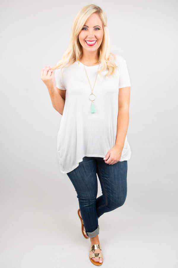 Casual Mood Top, Ivory