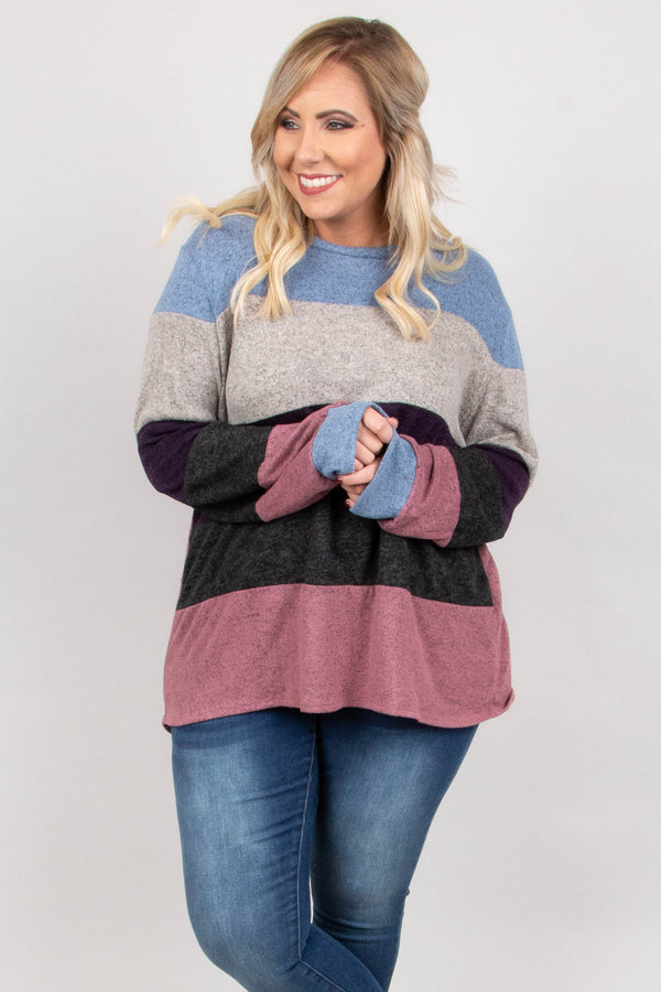 World Of Color Sweater, Dusty Pink