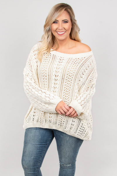On My Wishlist Sweater, Cream