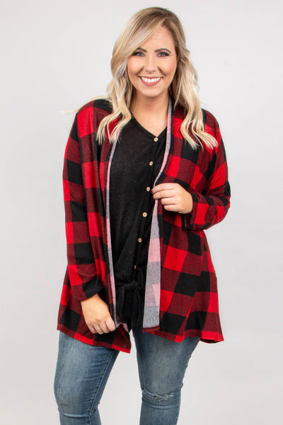 Fuel The Fire Cardigan, Red