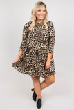 Prowlin' Around Dress, Brown