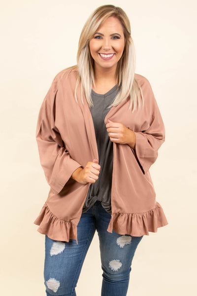 Love This Feeling Cardigan, Dusty Pink