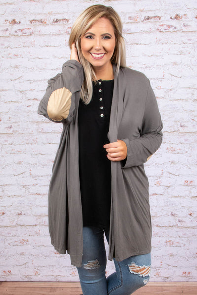 My Best Guess Cardigan, Gray