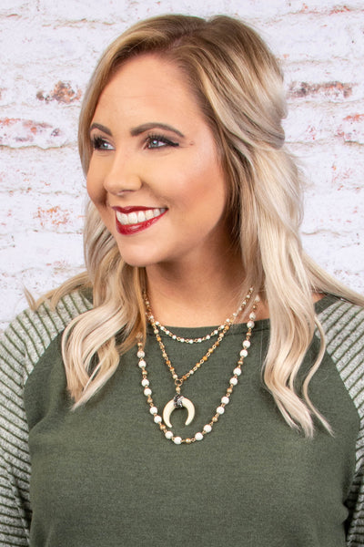 Center Of Attention Necklace, Ivory