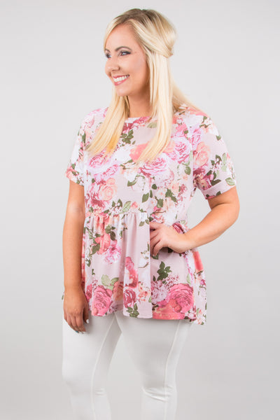 Freely Floral Tunic, Pink