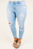 Power Trip Skinny Jeans, Light Wash