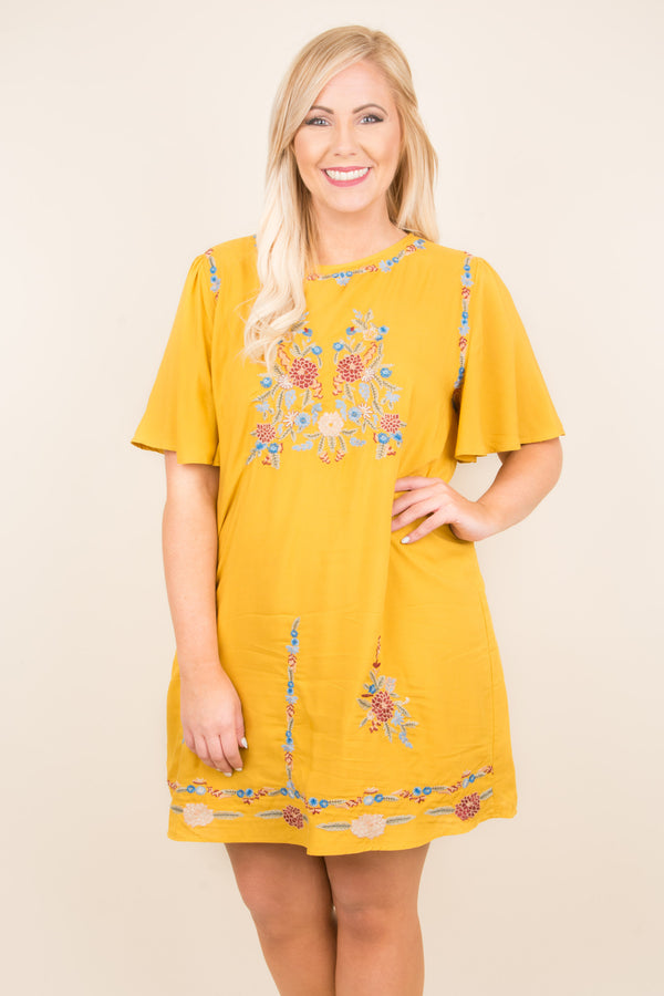 In The Meadow Dress, Mustard
