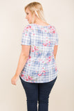 Day At The Park Top, Navy-Pink