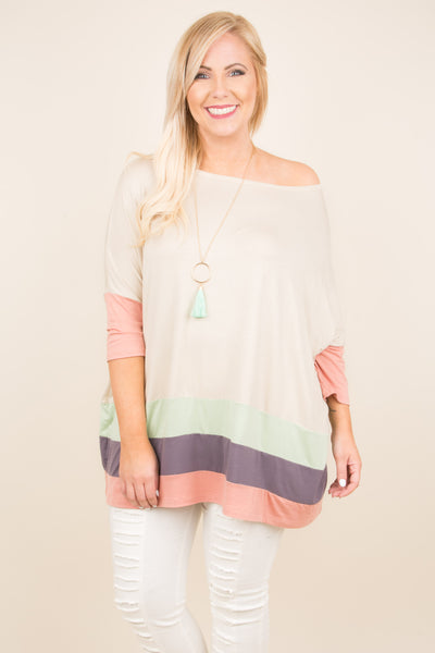 Wish On A Star Tunic, Taupe