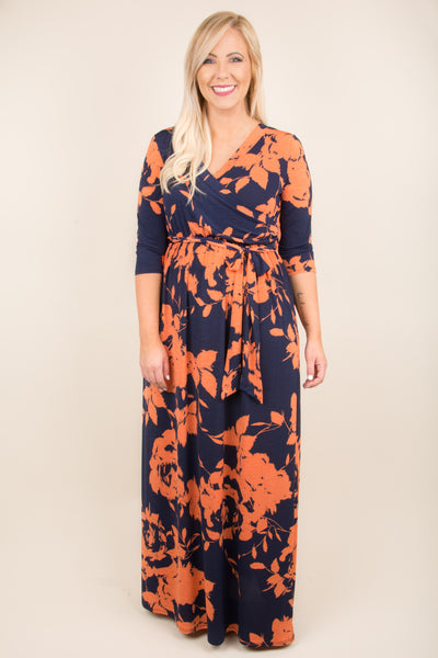 Beneath The Palms Maxi, Navy