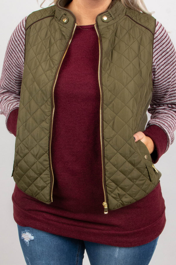 Cruising To Colorado Vest, Olive