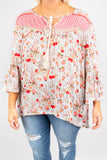Beautiful Hearts Blouse, Red