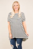All For You Tunic, Ivory-Black