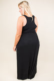 Music To My Heart Maxi Dress, Black