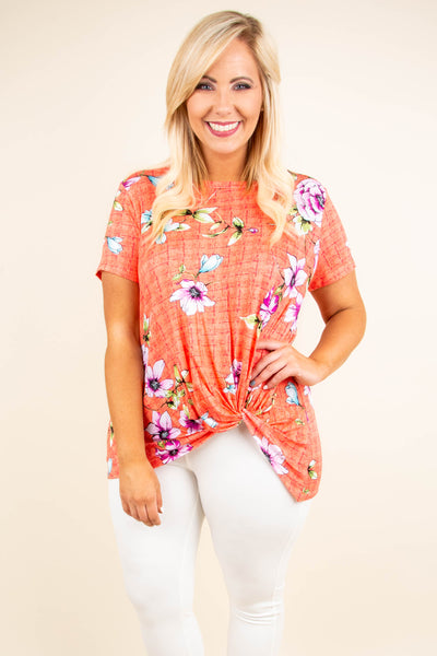 Natural Attraction Top, Coral