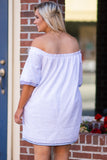 Anchors Away Dress, Off White