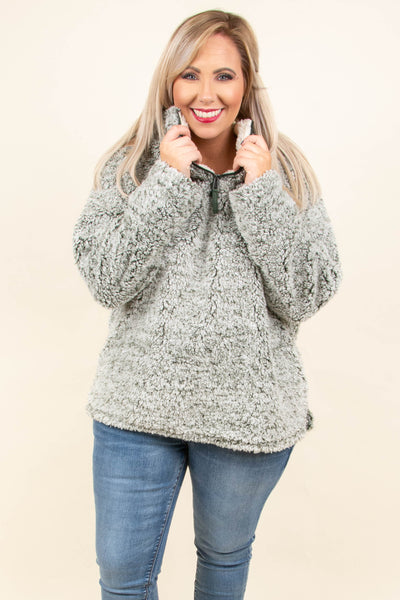 Fuzzy Feelings Pullover, Olive