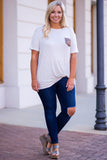 All That Shimmers Top, Heather Gray