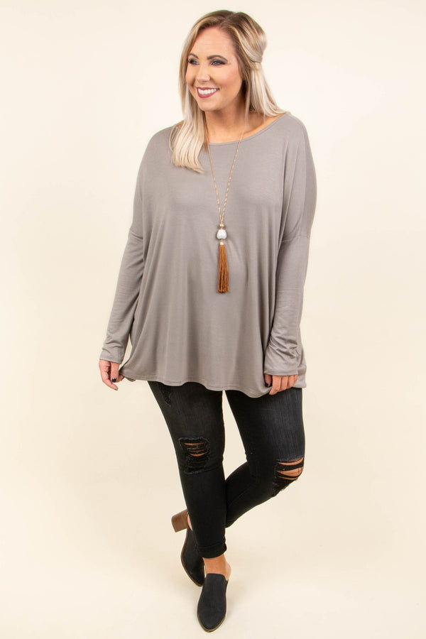 shirt, long sleeve, long, mushroom, solid, flowy, basic, fall, winter