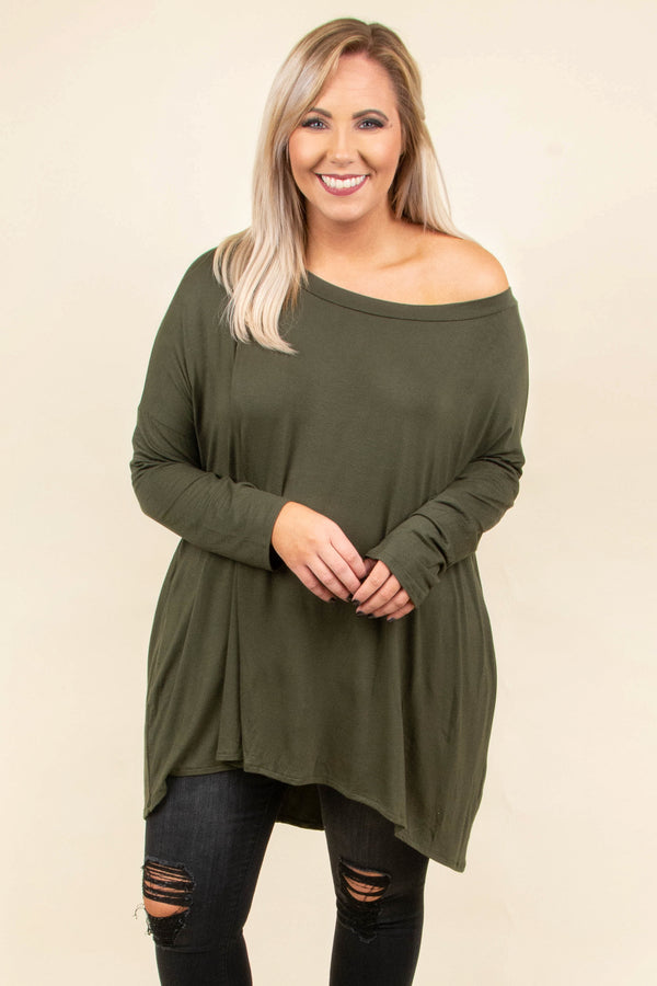 Cozy Mornings Tunic, Olive