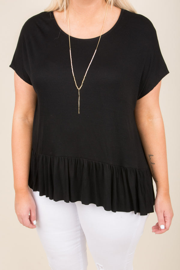 After Thought Top, Black