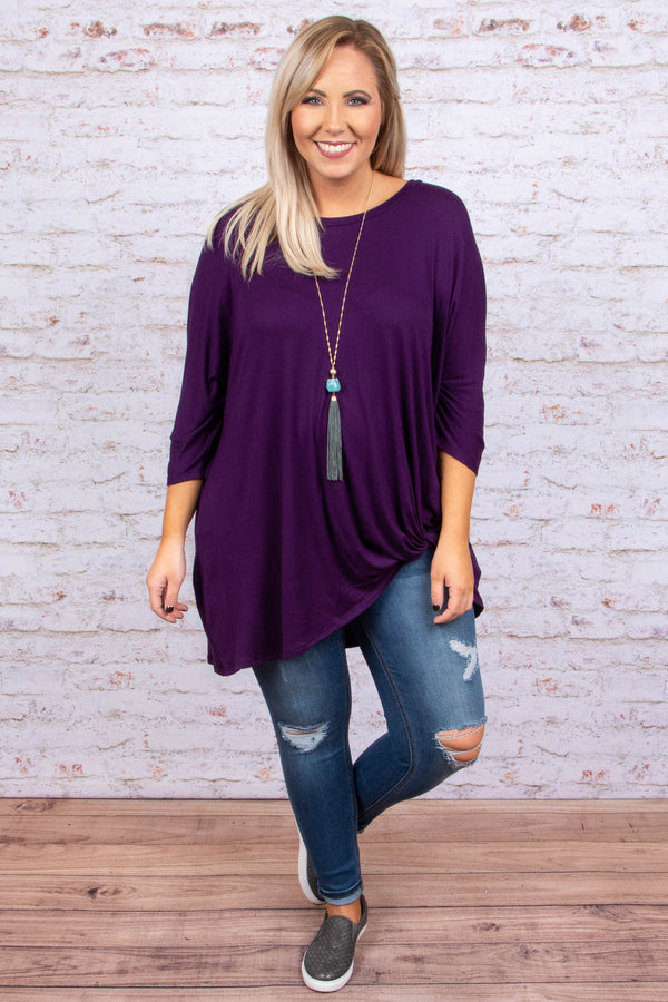 Steal Me Away Tunic, Eggplant