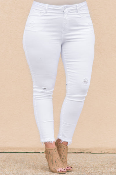 Off To The Races Jeans, White