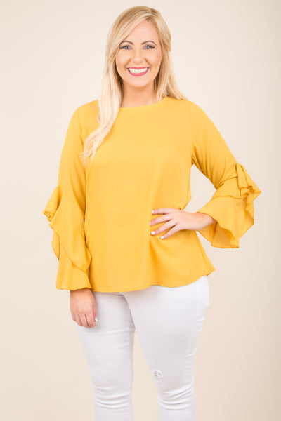 Vintage Revival Blouse, Yellow