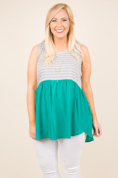 Second Chances Tank, Green