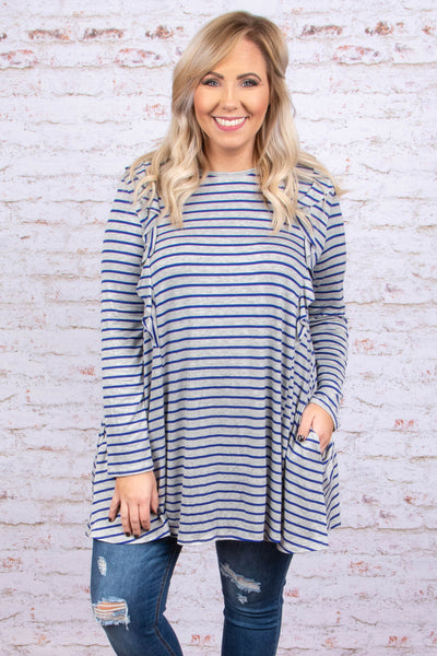 A Simple Favor Tunic, Navy