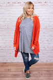 Hit Snooze Cardigan, Rust
