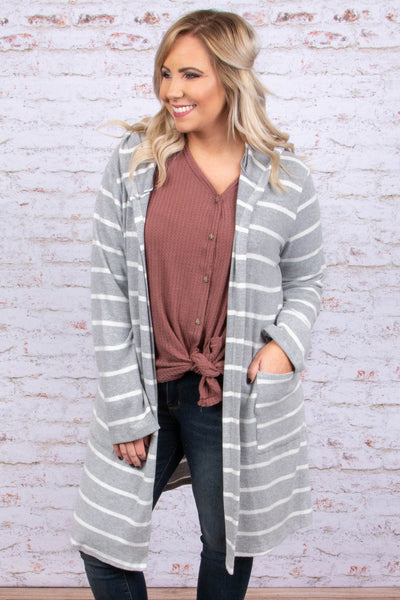 Won't Miss It Cardigan, Heather Gray