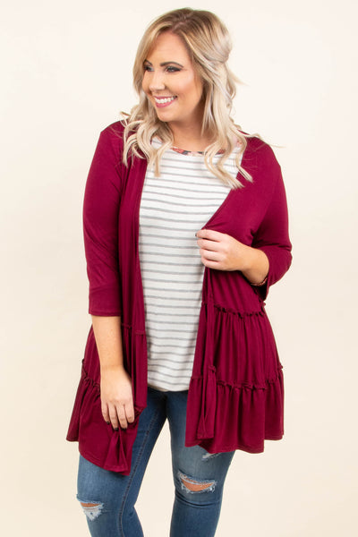 Wear Me Always Cardigan, Burgundy