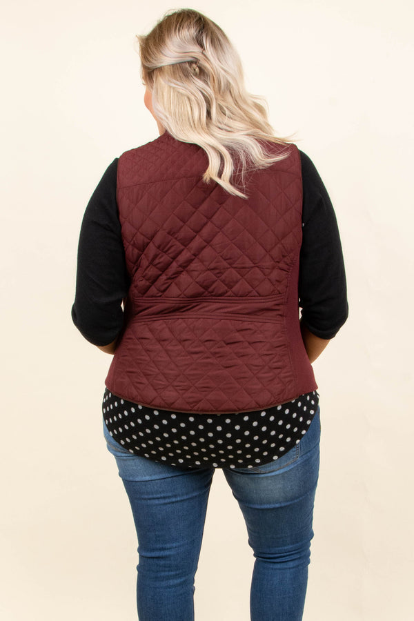 Cruising To Colorado Vest, Burgundy