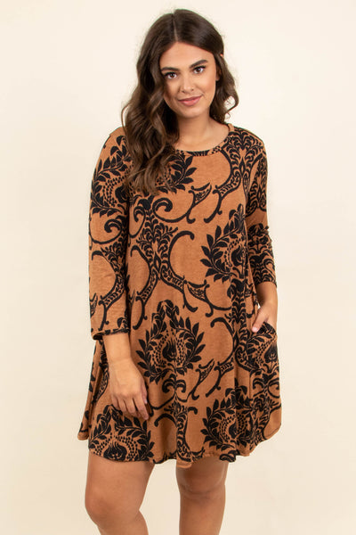 Pick And Choose Dress, Mocha