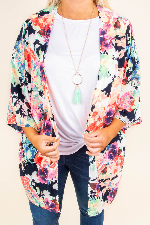 Color Me Wonderful Kimono, Black