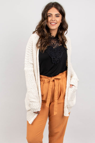 Hit Snooze Cardigan, Cream