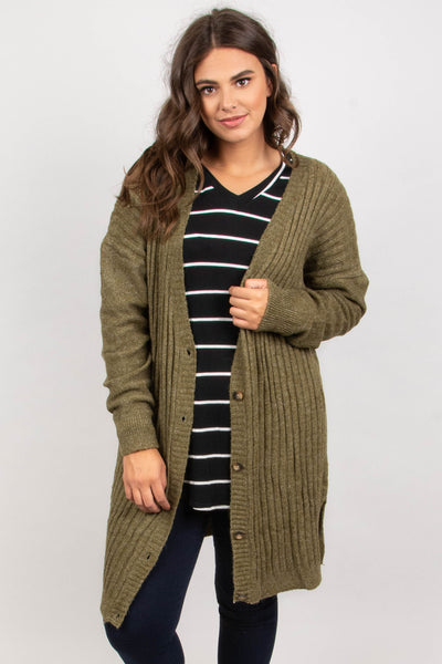 Not Over It Cardigan, Olive
